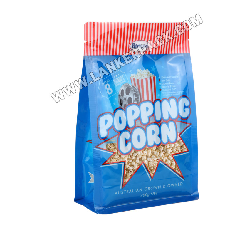 Flat Bottom Zipper Bag For Food Packaging